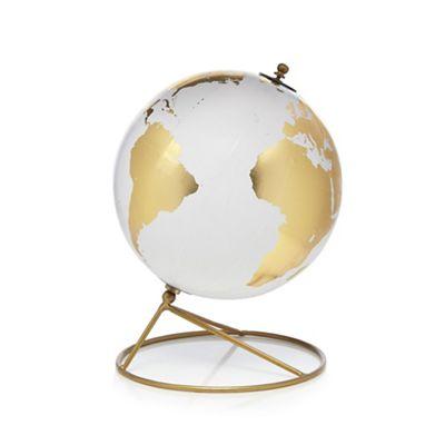 Gold cosmopolitan globe