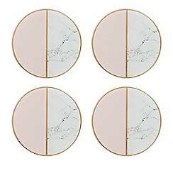 Home Collection - Pack of 4 multi-coloured marble effect  coasters