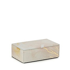 Home Collection - Small multi-coloured glass  jewellery box