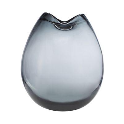 Home Collection Grey Folded Smoked Vase Debenhams