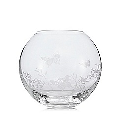 Home Collection - Butterfly etched fish bowl vase