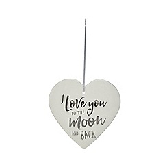 Home Collection - White ceramic heart sign