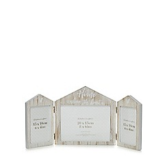 Home Collection - Natural wood 'Home Is Where The Heart Is' folding photo frame