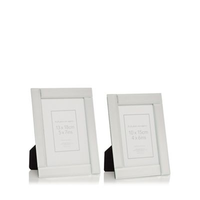 Home Collection   Set Of Two 'charlotte' Glass Photo Frames by Home Collection