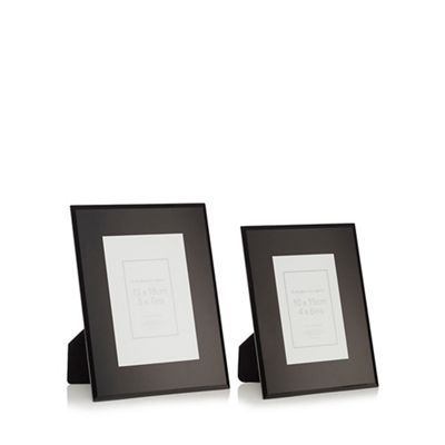 Home Collection Set of two \'Olivia\' glass photo frames | Debenhams