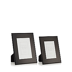 Home Collection - Set of two 'Olivia' glass photo frames