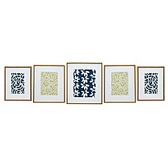 Home Collection - 5 piece wood effect gallery wall pack photo frames