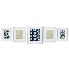 Home Collection - 5 piece silver gallery wall pack photo frames