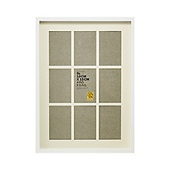 Home Collection - White nine aperture photo frame