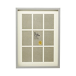 Home Collection - Grey nine aperture photo frame