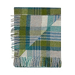 Bronte by Moon - Green wool 'Shetland Melbourne' throw