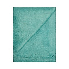 Bronte by Moon - Aqua blue mohair throw