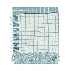 Bronte by Moon - Aqua blue lambswool 'Athens' throw
