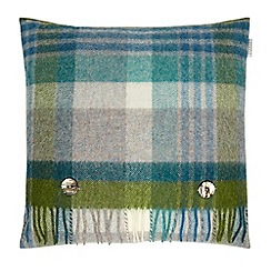 Bronte by Moon - Green wool 'Shetland Melbourne' cushion