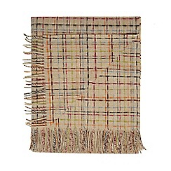 Bronte by Moon - Beige lambswool 'Cairo' throw