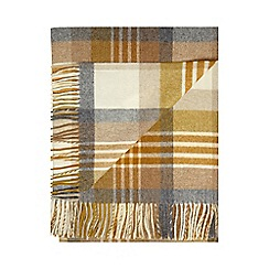 Bronte by Moon - Gold lambswool 'Melbourne' throw