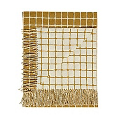 Bronte by Moon - Gold lambswool 'Athens' throw