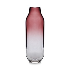 Home Collection - Large purple ombre glass vase