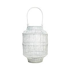 Home Collection - White wire lantern