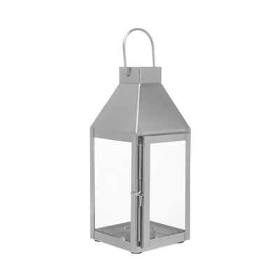 Home Collection   Silver Glass Lantern by Home Collection