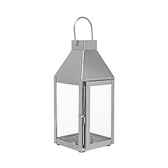 Home Collection - Silver glass lantern