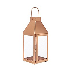 Home Collection - Bronze copper glass lantern