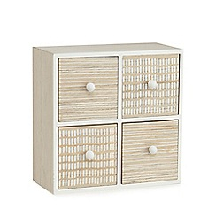 Home Collection - Washed wood four drawer box