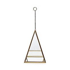 Home Collection - Gold metal terrarium
