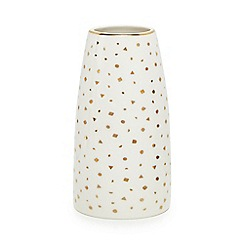 Home Collection - Cream spotted vase