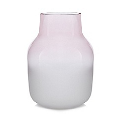 Home Collection - Large pink frosted glass vase