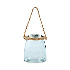 Home Collection - Blue small glass rope lantern