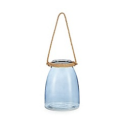 Home Collection - Blue glass rope lantern