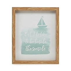 Home Collection - Blue 'Beside The Seaside' wall art