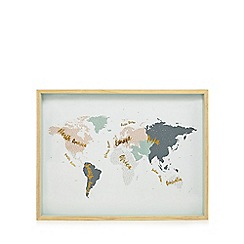 Home Collection - Multi-coloured world map wall art