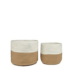 Home Collection - Set of two natural jute storage baskets