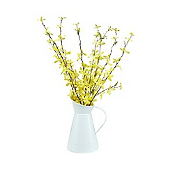 Home Collection - Jug of artificial Forsythia