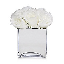 Star by Julien Macdonald - Silver vase with artificial flowers