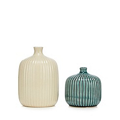 Home Collection - 2 pack multicoloured ceramic bud vases