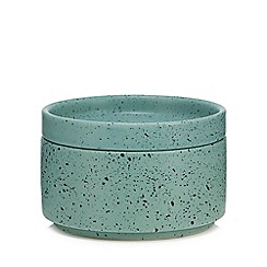 Home Collection - Green speckled ceramic pot