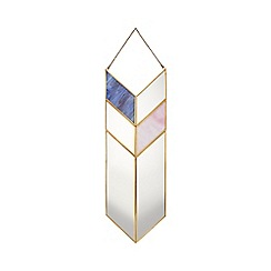 Debenhams - Gold metal arrow mirror