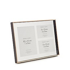 Home Collection - Silver mirrored 3 aperture photo frame