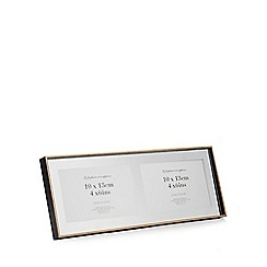 Debenhams - Black three picture wooden photo frame