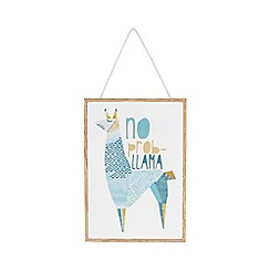 Debenhams - Multi-coloured 'No prob-llama' print sign