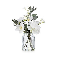 Home Collection - Artificial peonies in a glass vase