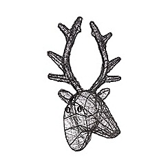 Home Collection - Black wire stag head wall art