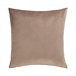 Home Collection - Light brown velvet cushion