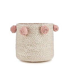 Home Collection - Natural jute pom pom storage basket