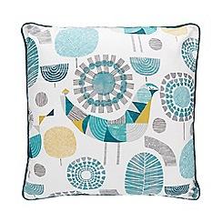 Home Collection - Multicoloured retro bird print cushion