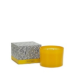 Debenhams Large Yellow Grapefruit And Mandarin Scented Candle