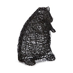 Debenhams - Black wire bear ornament